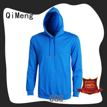 QiMeng thick custom embroidered hoodies factory price for sports