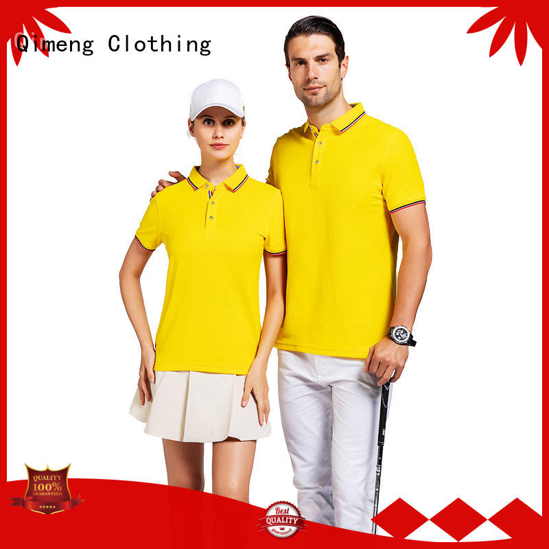 QiMeng latest-arrival yellow polo t shirts  manufacturer for promotional campaigns