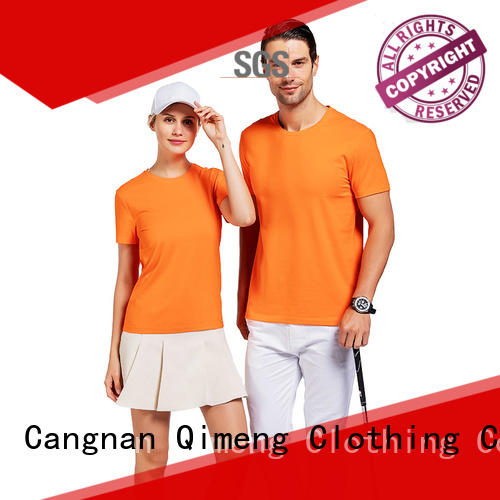 on short sleeve t-shirt wholesale for team-work QiMeng