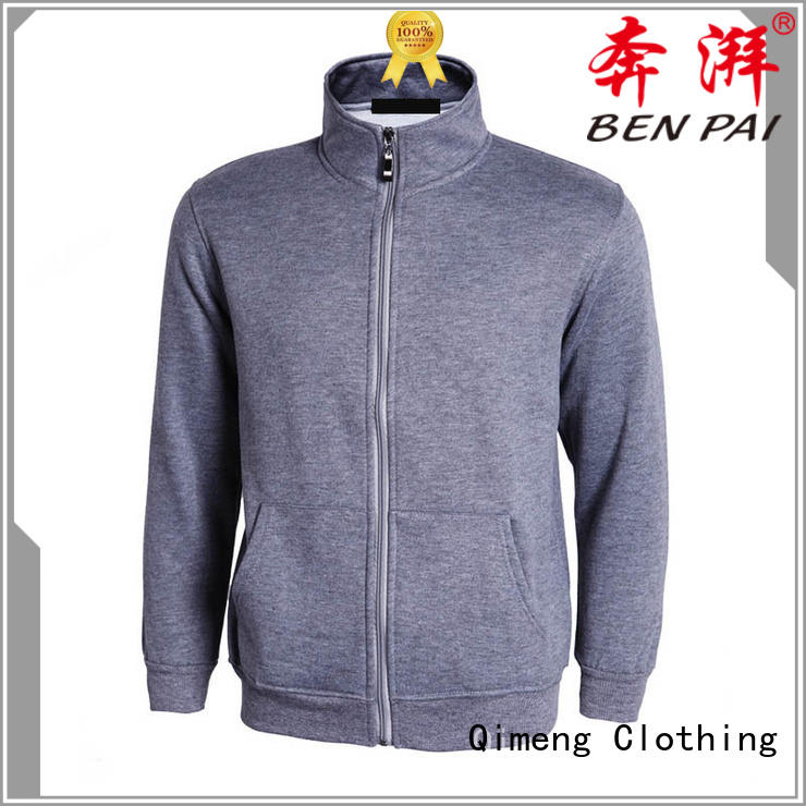 QiMeng man custom hoodies embroidered with many colors