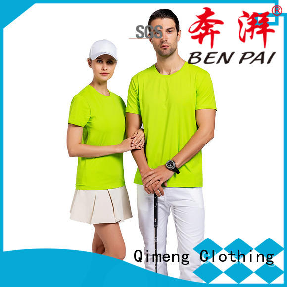 QiMeng bulk slim fit t shirt supplier for sporting