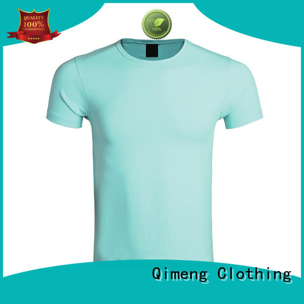 QiMeng printed plain t shirts for women in different color for outdoor activities