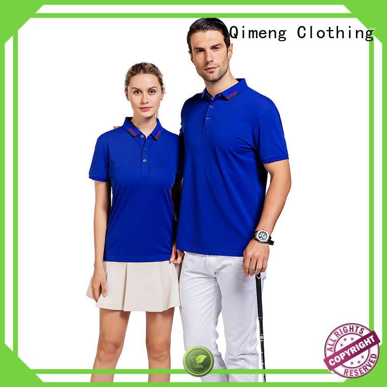 QiMeng 100%cotton plain polo shirts men men for leisure travel