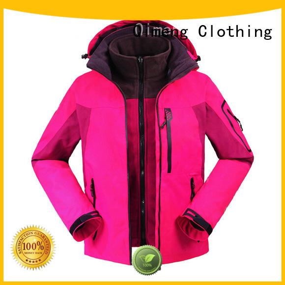 QiMeng latest-arrival outdoor jacket men zipper design in autumn