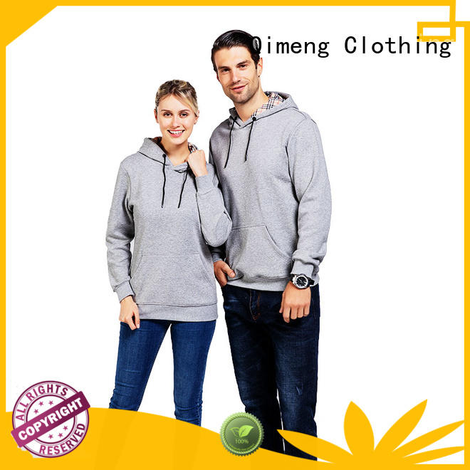 QiMeng coming black hoodies men from China for sports