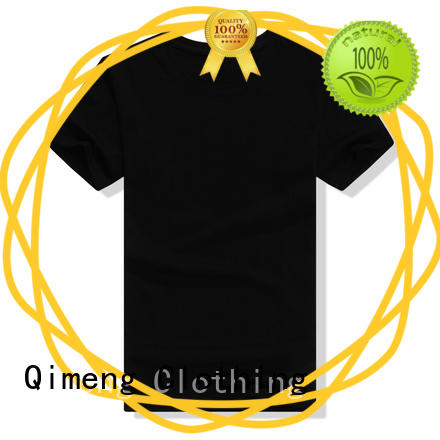 QiMeng printed tee shirts custom print wholesale