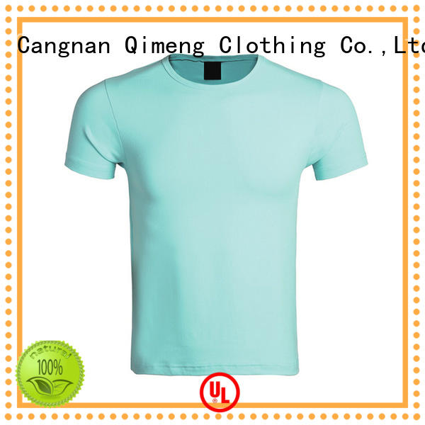 QiMeng fine- quality plain white t shirts shir for sports
