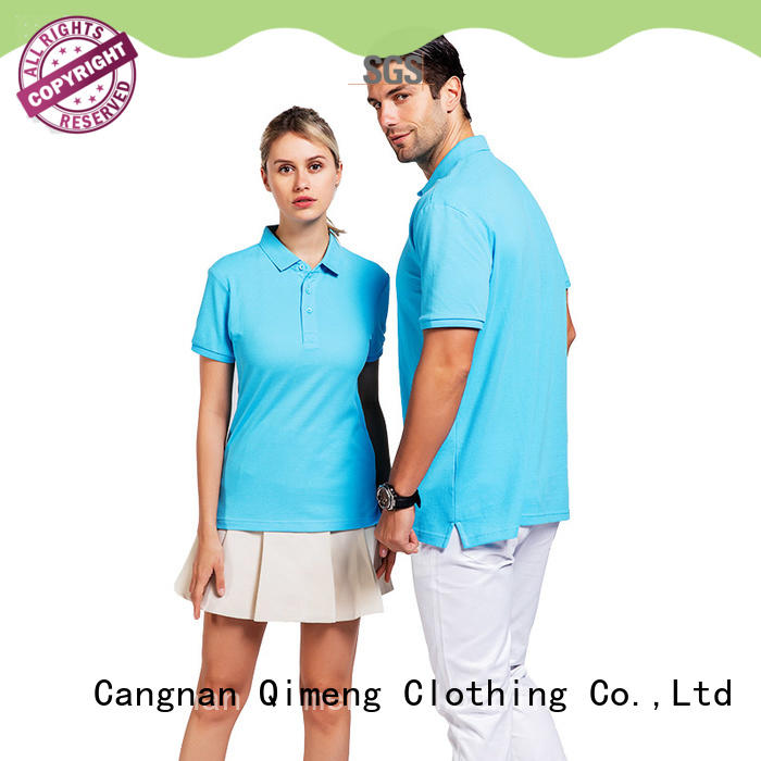 QiMeng bulk youth polo shirts in different color for outdoor activities