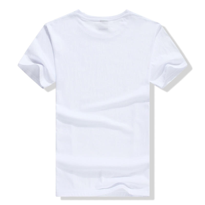 Custom o Neck 100% Organic Cotton Short Sleeve White t Shirt