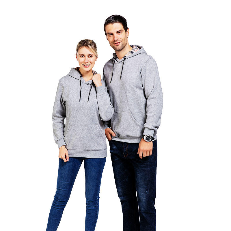 New selling popular design promotional plain thick hoodies