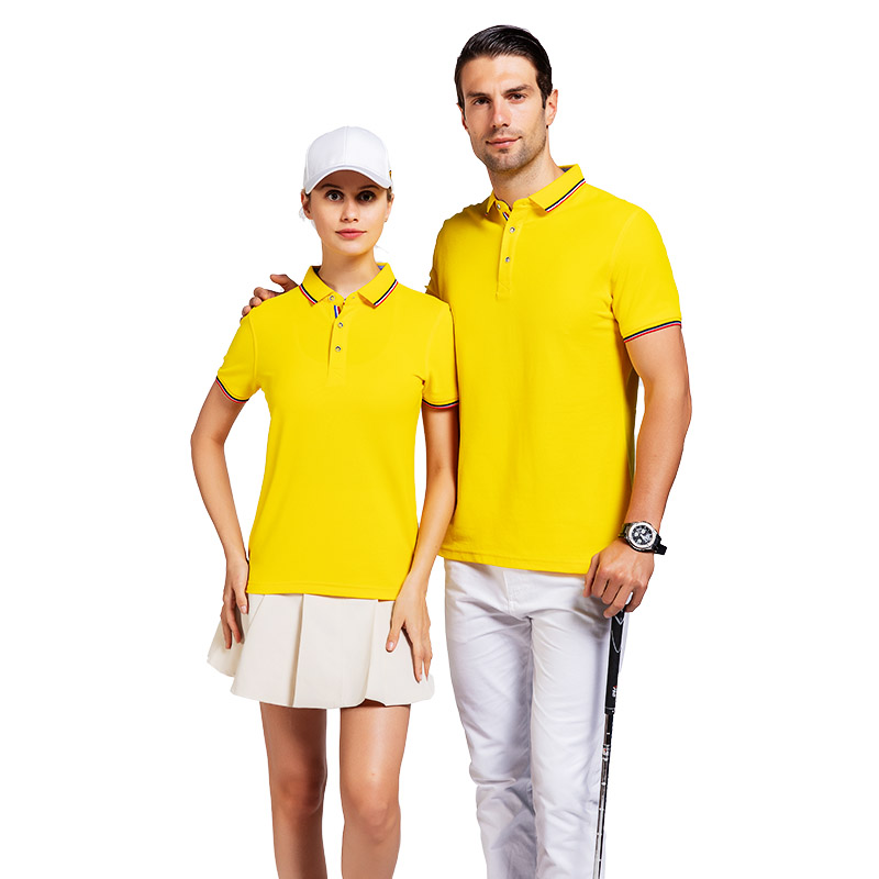 QiMeng tshirt cotton polo shirts mens in different color for team-work-1