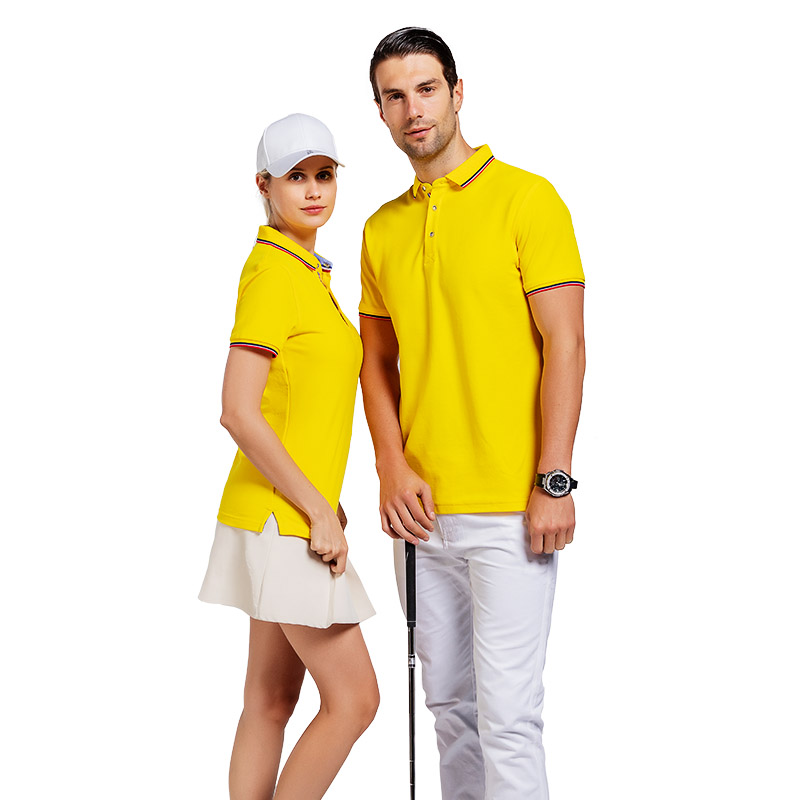 QiMeng tshirt cotton polo shirts mens in different color for team-work-3