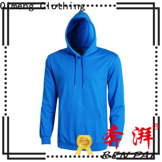 QiMeng high-quality plain hoodies in China for sporting