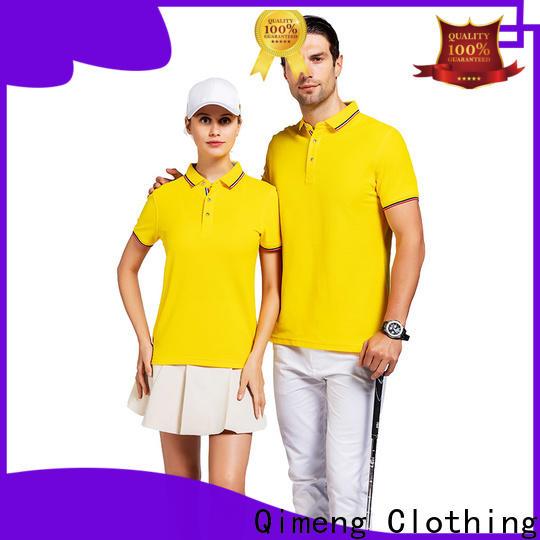 QiMeng modern golf polo shirt factory