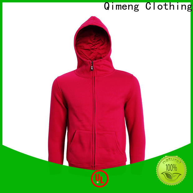 QiMeng mens black hoodies men factory price for sports