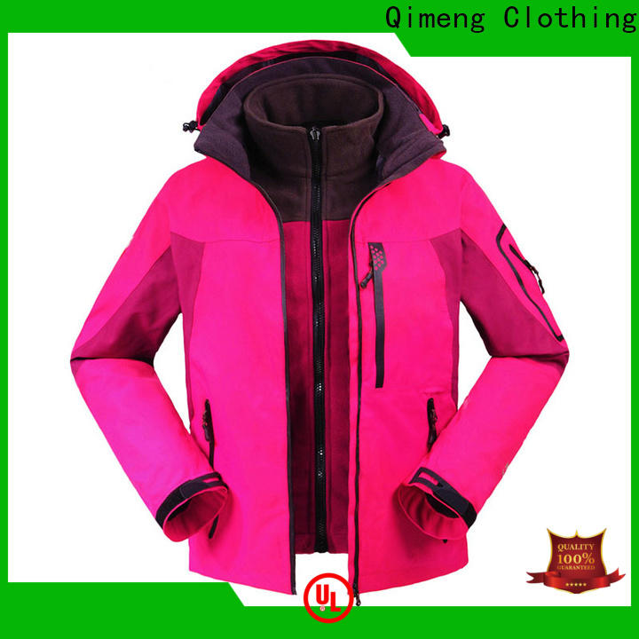 QiMeng prices waterproof winter jacket manufacturer in spring