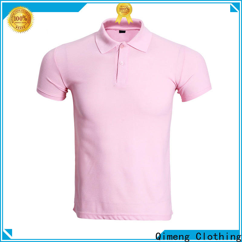 QiMeng hot-selling polo sport shirts button design for team-work