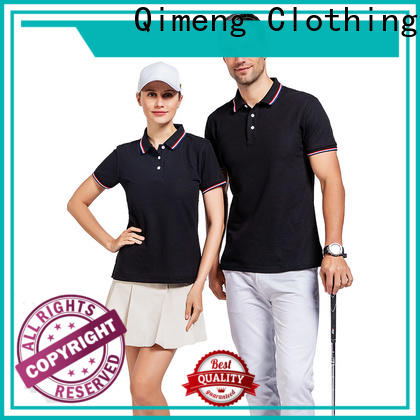 QiMeng blank custom polyester polo shirts  manufacturer  for leisure travel