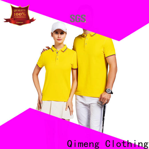 QiMeng sale men polo t-shirts  supply  for leisure travel