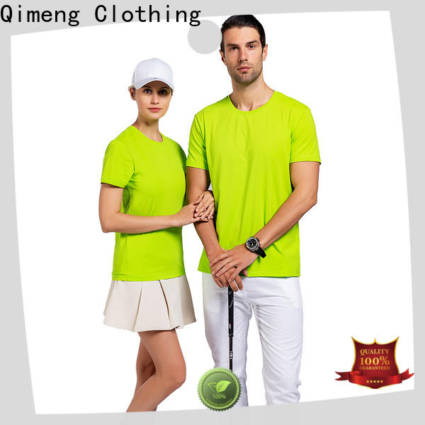 QiMeng O-neck personalized t shirt for sporting