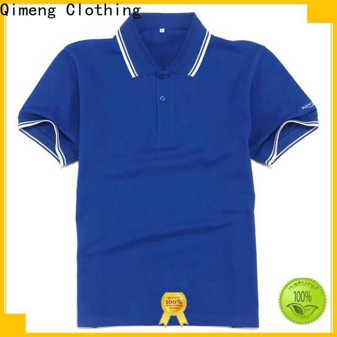 QiMeng clothes polo shirt 100% cotton supply for daily wear