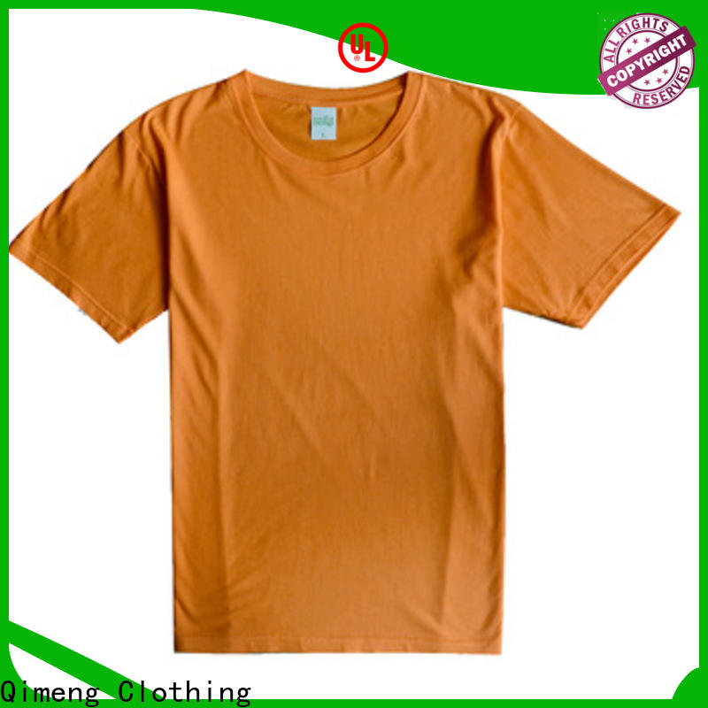 QiMeng organic branded t-shirts on sale for promotional campaigns