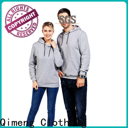 QiMeng newly custom hoodies embroidered from China for sporting