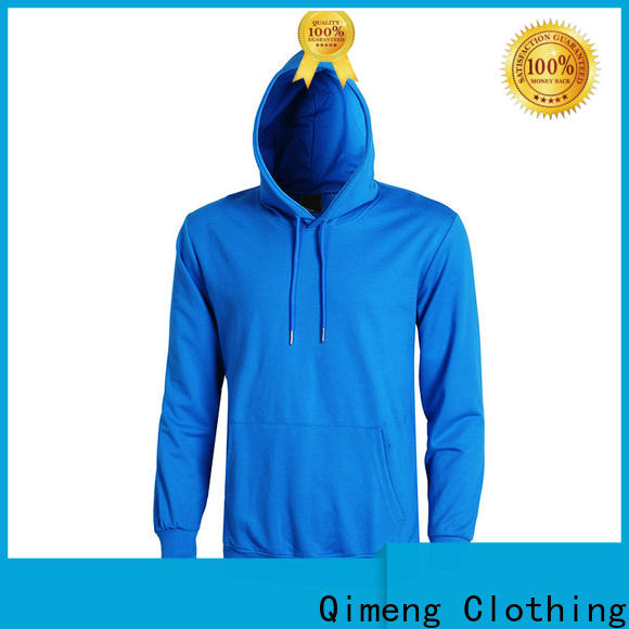 QiMeng newly black hoodies men supplier for daily wear