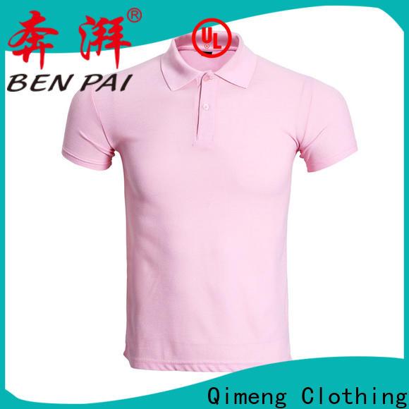QiMeng 100%cotton golf polo shirt vendor for daily wear