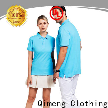 QiMeng excellent yellow polo t shirts factory price for daily wear
