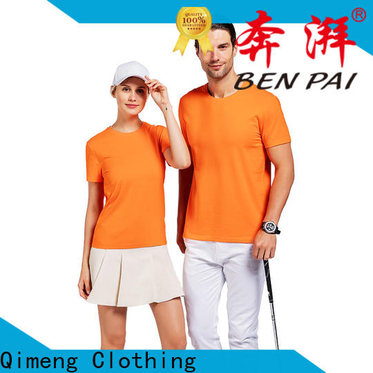 QiMeng thin custom t-shirt in different color for sports