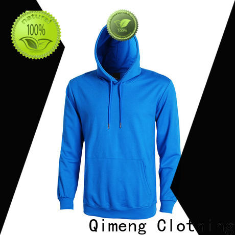 QiMeng outstanding plain hoodies factory price