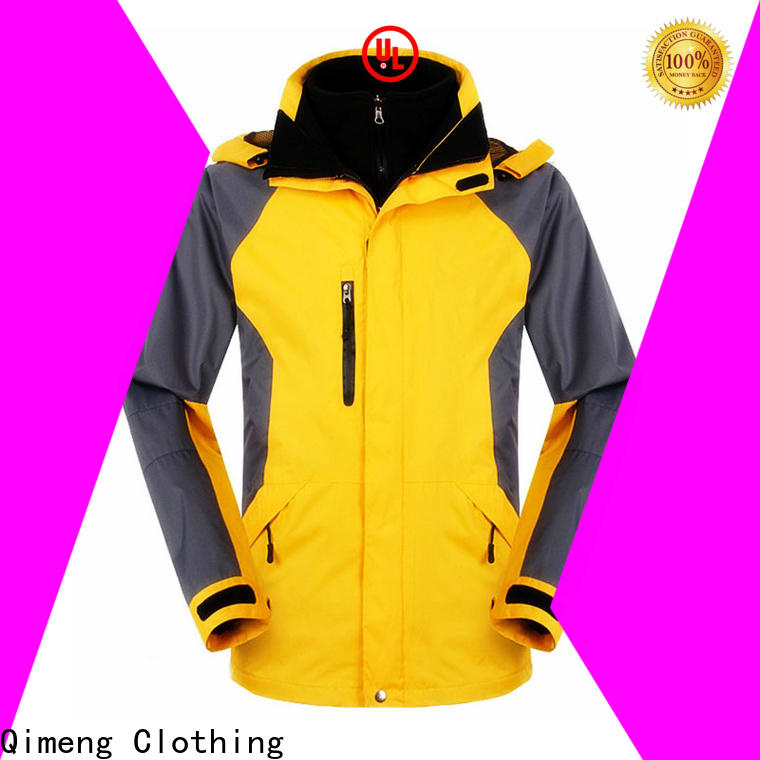 QiMeng OEM winter outdoor jacket with good price for sports