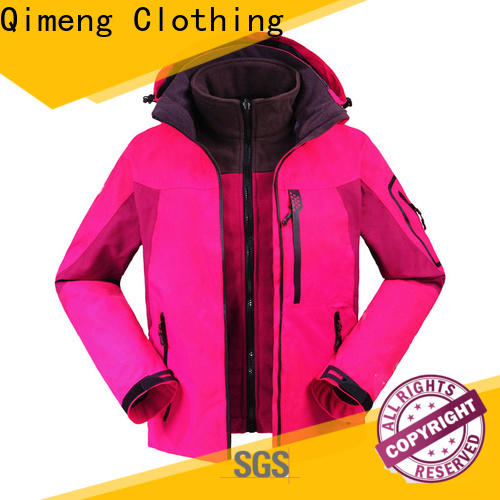 QiMeng modern waterproof hiking jacket with many colors in winter
