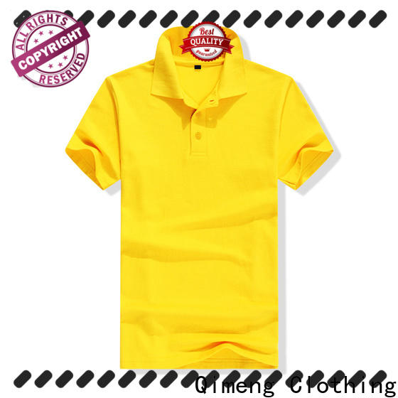 QiMeng size yellow polo t shirts supply for business meetings