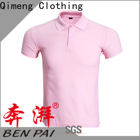 QiMeng polyester organic cotton polo shirts directly sale