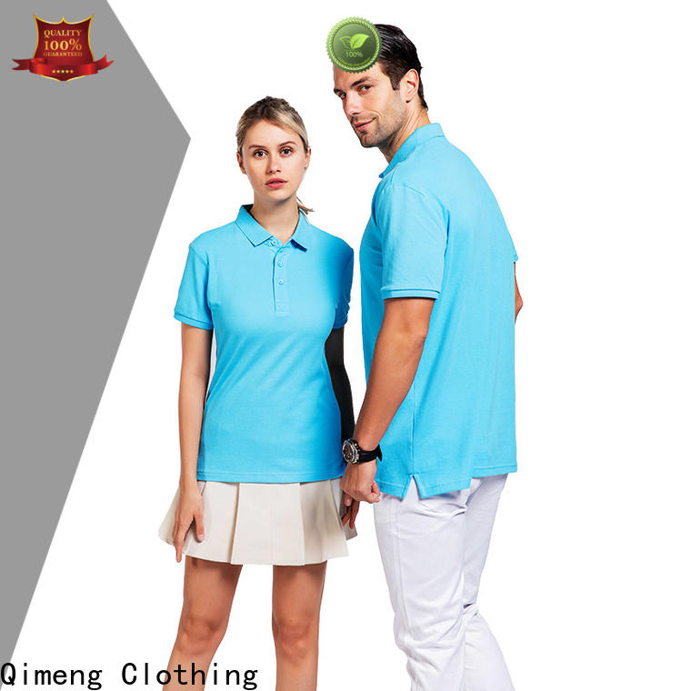 QiMeng attractive custom logo polo shirt directly sale for team-work