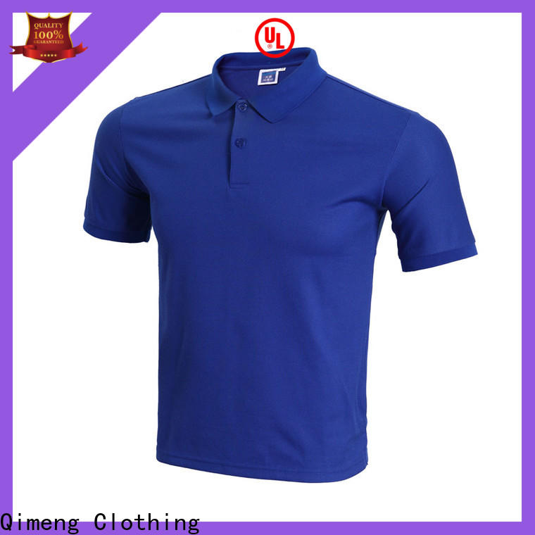 QiMeng inexpensive polyester polo t shirts in different color for team-work