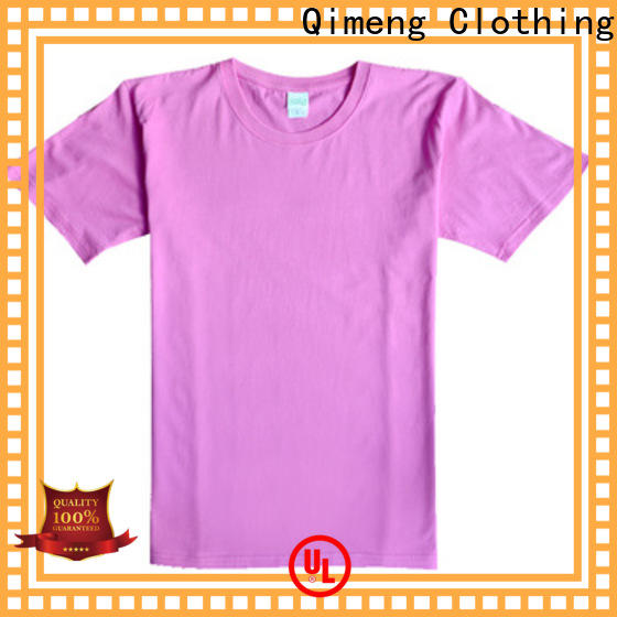 QiMeng bulk custom embroidered t shirts on sale for daily wear
