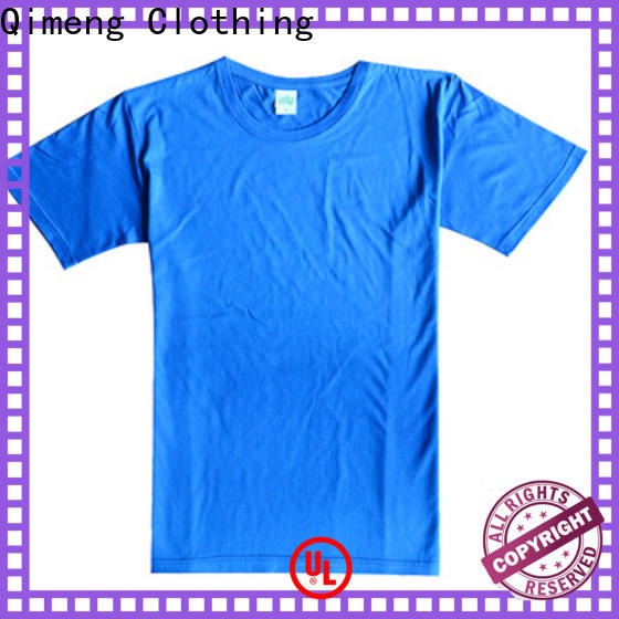 QiMeng collar plain t shirts in China for sports