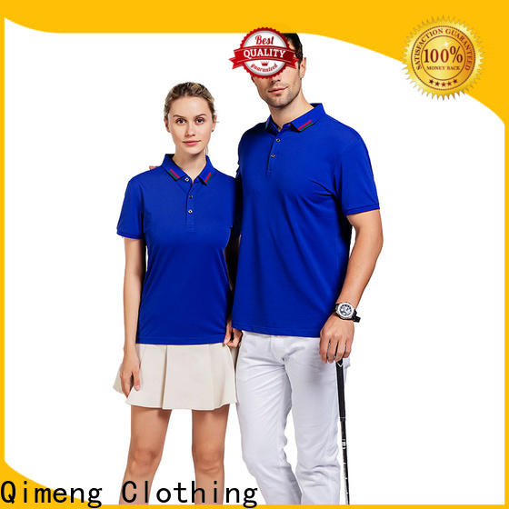 QiMeng nice polo design shirt button design for promotional campaigns