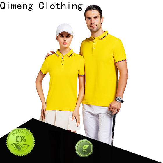 QiMeng newest youth polo shirts factory price for promotional campaigns