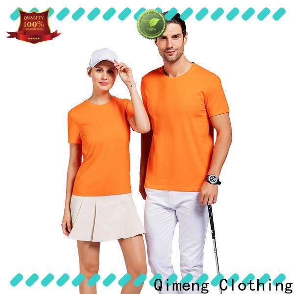 QiMeng outdoor custom cotton t-shirt for team-work