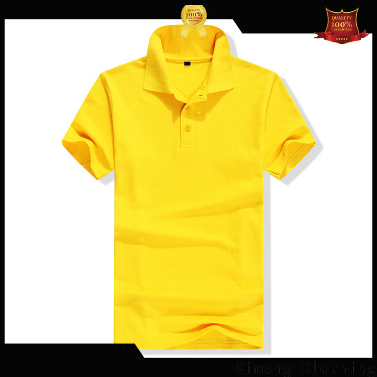 QiMeng new-coming polo shirt 100% cotton in different color for team-work