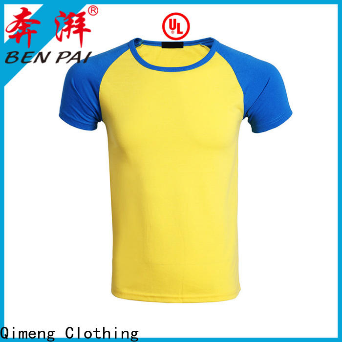 QiMeng casual plain t-shirts for-sale for sports