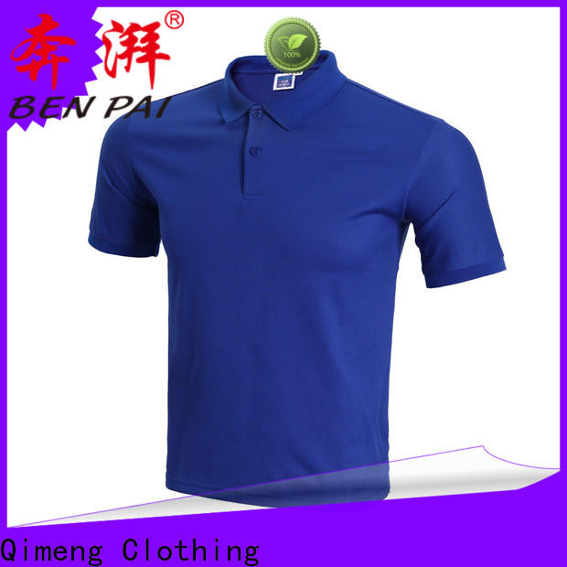 QiMeng directly 100% cotton polo shirts wholesale for business meetings