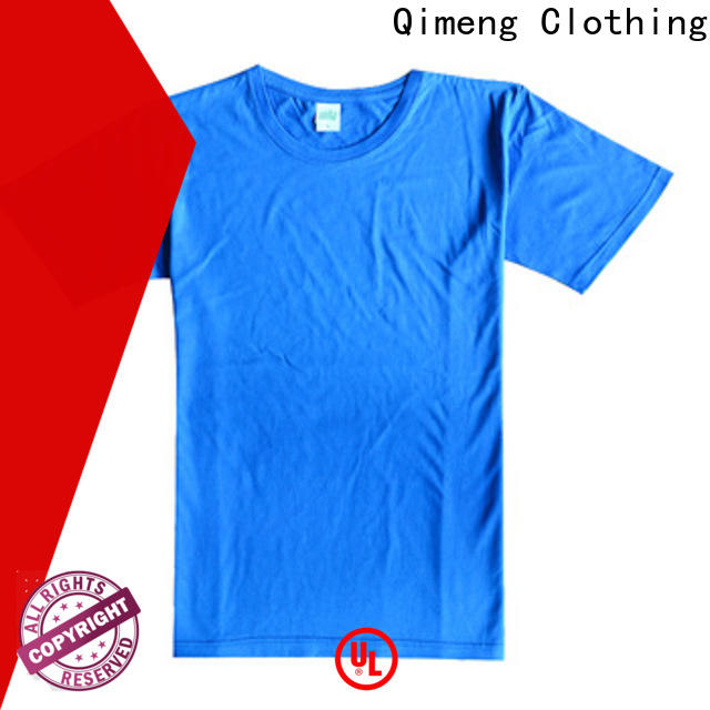 QiMeng printed t shirts free samples price for outdoor activities