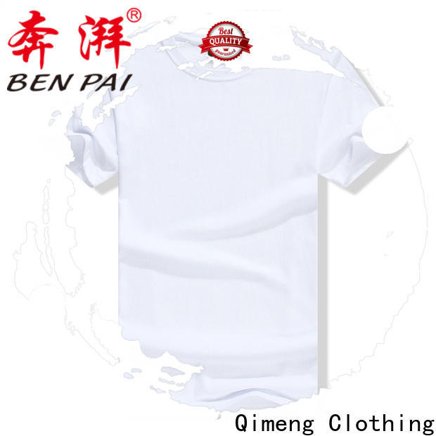 QiMeng logo slim fit t shirt on sale for sports