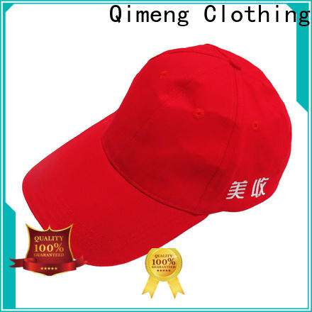 QiMeng custom baseball cap in different color in work room