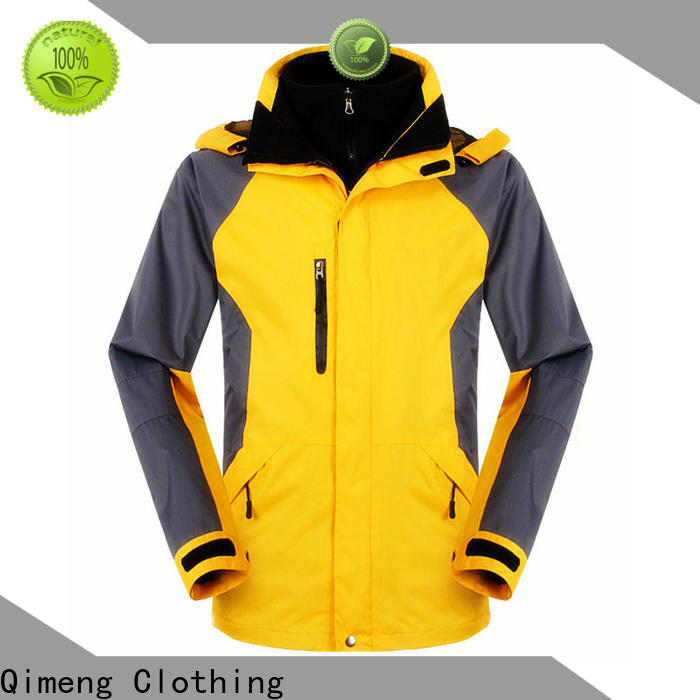QiMeng quality waterproof hiking jacket producer in spring
